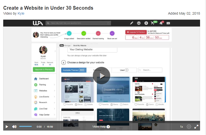 Create a website under 30 seconds