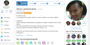 Jane's Wealthy Affiliate Profile