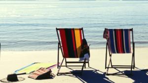 2 Beach chairs on a beautiful seaside