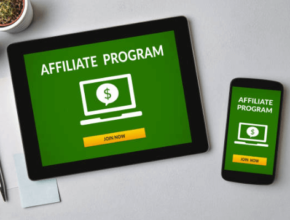 PC Tablet and Smartphone displaying the words Affiliate Program on their screens