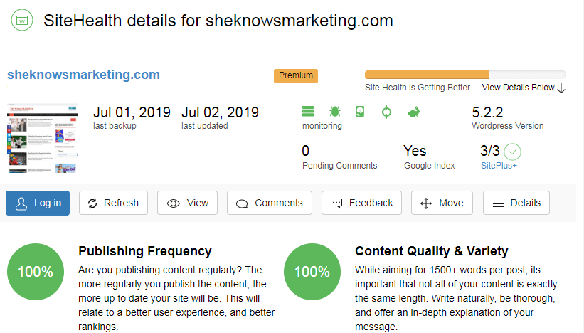 Can You Make Money On Wealthy Affiliate? Sheknowsmarketing.com Site Health