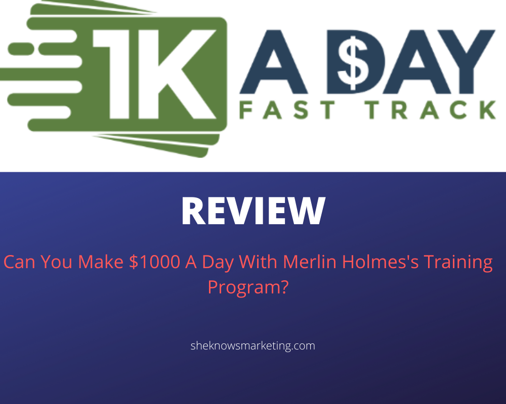 How To Enter  1k A Day Fast Track Training Program Coupon Code March